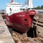 SA Agulhas Shines in Refurbished East London Dry Dock