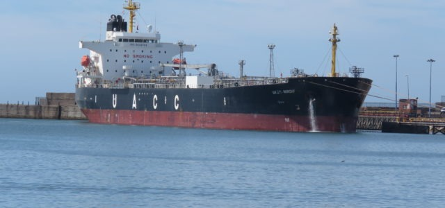 First vessel berths in PE port after repairs